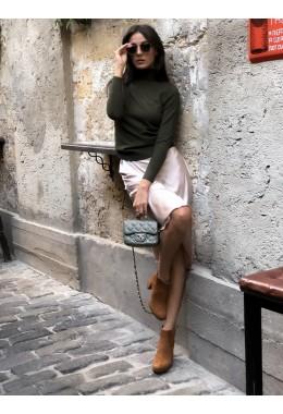 Утонченная юбка бежевая