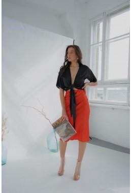 Утонченная юбка коралловая