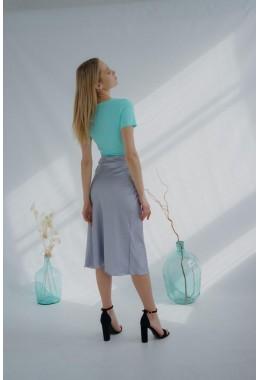 Утонченная юбка серая