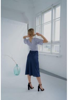Утонченная юбка темно-синяя
