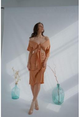 Утонченная юбка золотая