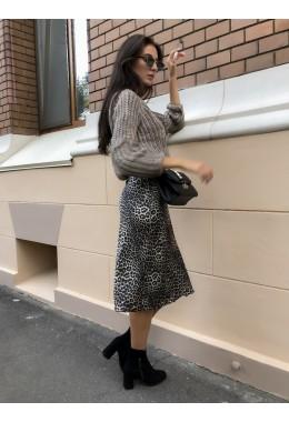 Модная юбка в леопардовом принте