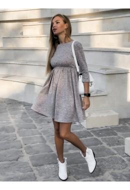 Теплое ангоровое платье в сером цвете
