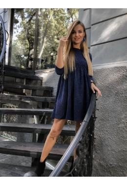 Теплое платье с расклешенной юбкой