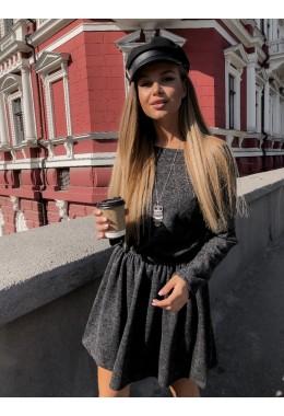 Милое платье из ангоры в черном