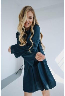 Изящное изумрудное платье