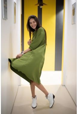 Идеальное платье для девушек в положении цвета хаки