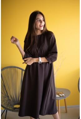 Идеальное платье для девушек в положении цвета шоколад