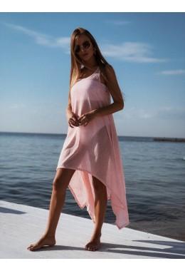 Платье в пляжном стиле в розовом цвете