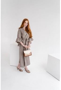 Модное платье-кардиган миди  длины