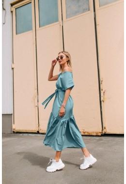 Нежное платье одуванчик мятного цвета
