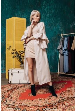 Платье-кардиган бежевого цвета