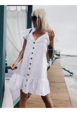 Легкое белое платье из котона