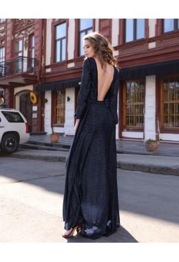 Вечернее платье Звездная пыль темно-синее