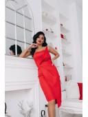 Стильное корсетное платье красного цвета