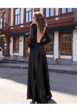 Вечернее платье Звездная пыль черное