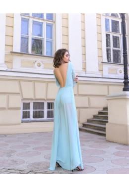 Вечернее платье Звездная пыль цвета тиффани