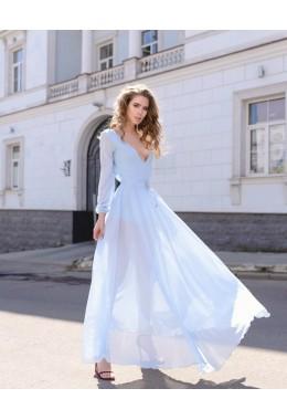 Вечернее платье Звездная пыль нежно-голубое
