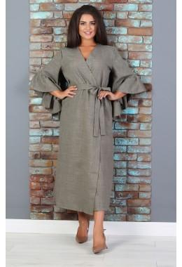 Платье-кимоно на поясе