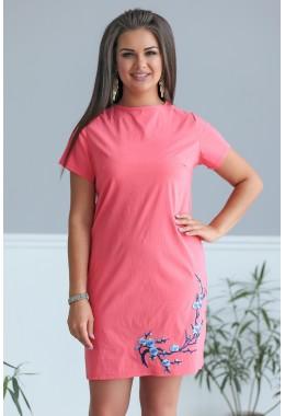 Платье Сакура коралловое