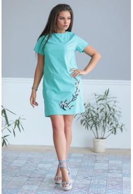 Платье Сакура бирюзовое