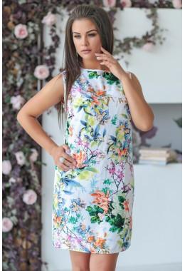 Летнее платье в разноцветные цветы