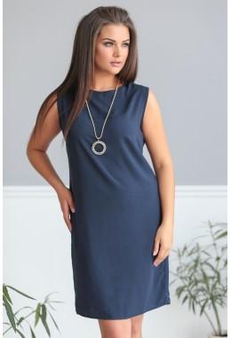 Летнее платье в темно-синем цвете