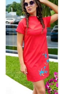 Платье Сакура красное