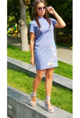 Платье Сакура джинсового цвета