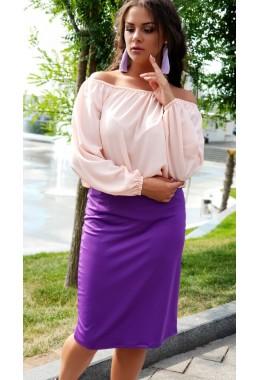 Блуза Однотон пудрова
