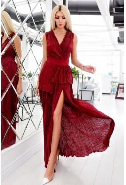 Платье гофре макси