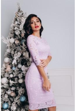 Облегающее гипюровое платье