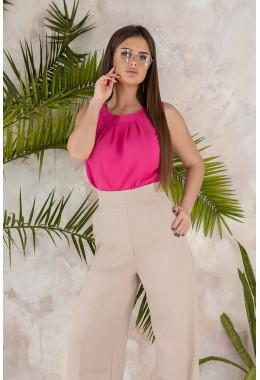 Блуза без рукавов цвета малина
