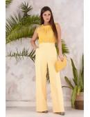 Блуза без рукавов желтого цвета