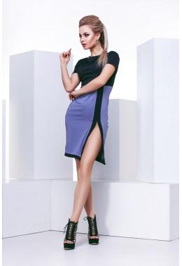 Мини платье с разрезом
