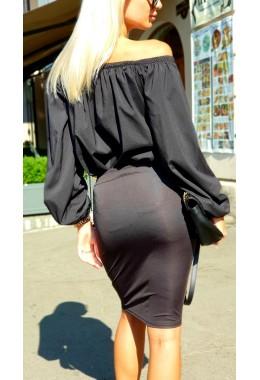 Черная миди юбка