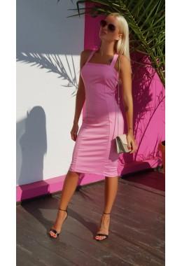 Платье силуэт розовое