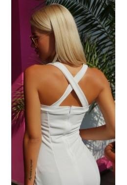 Платье силуэт белое