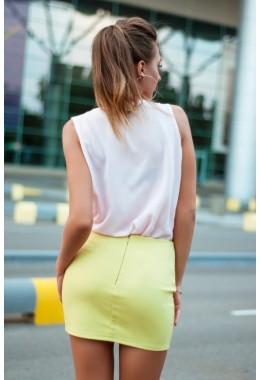 Мини юбка желтая