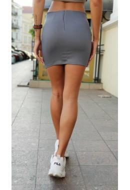 Мини юбка серая