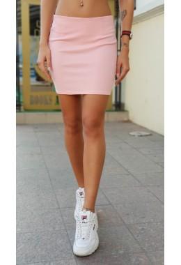 Мини юбка персиковая