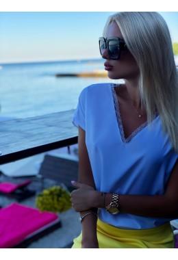 Блуза с кружевом белая