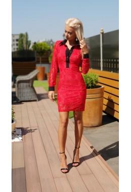 Гипюровое платье с воротничком