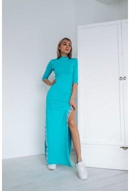Платье в пол с лампасами