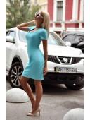 Платье змейка голубое