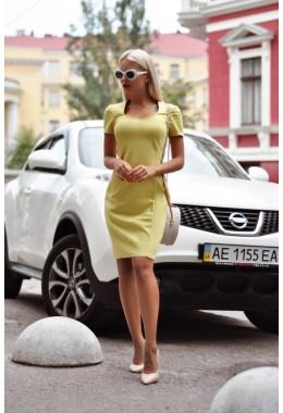 Платье змейка оливковое