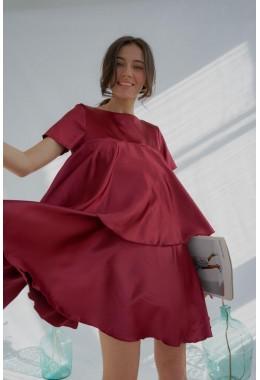 Платье воланами