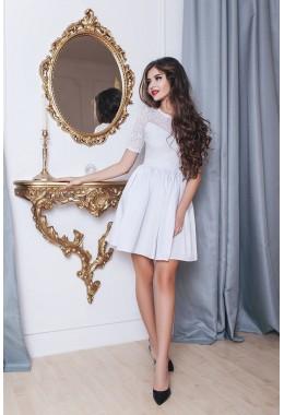 Платье белое в стиле Baby Doll