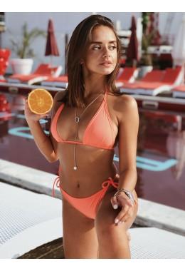 Яркий купальник с завязками на лифе и плавках