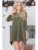 Платье свободного кроя люрексовое